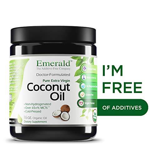 - Coconut Oil - 100% Pure Extra Virgin Coconut Oil - Promotes Cholesterol Health, Weight Loss, Immune Support, & Brain Health - Emerald Laboratories (Fruitrients) - 16 oz. Pure Oil