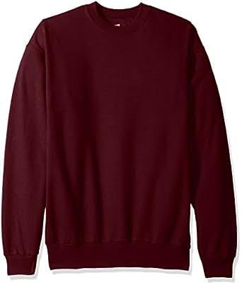 Hanes Men's EcoSmart Fleece Sweatshirt, Maroon, 4X Large