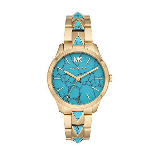 Michael Kors Women's Runway Mercer Quartz Watch with Stainless Steel Strap, Gold, 18 (Model: MK6670)