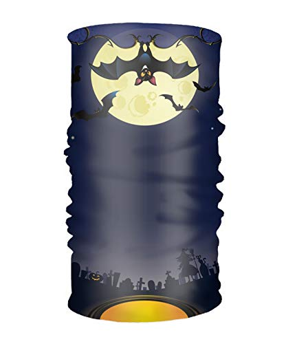 Multifunctional Headwear Yoga Sports Stretchable Headband Halloween Back Bat Bandana Scarf]()