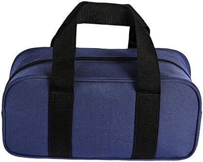 QEES ツールロール ツールケースロール 工具袋 道具袋 オックスフォード製 32*11.5*14cm 建設業者用 工具小物整理ケース (ブルー)