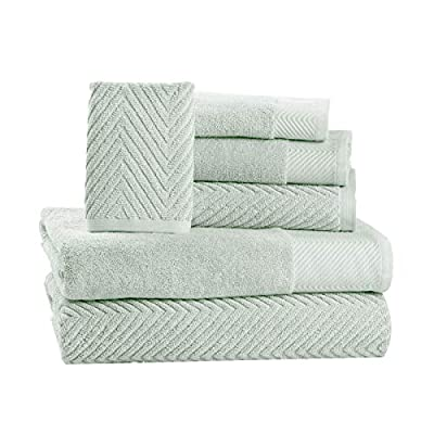 ISABELLA CROMWELL 6 Piece Cotton Bath Towels Set - 2 Bath Towels, 2 Hand Towels, 2 Washcloths Machine Washable Super Absorbent Hotel Spa Quality Luxury Towel Gift Sets