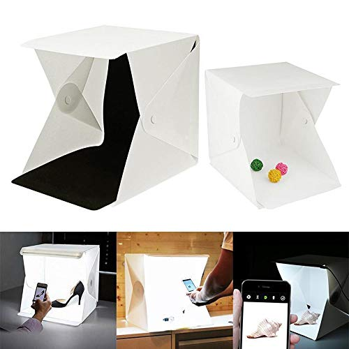 FidgetFidget Lighting Light Room Mini Photo Studio 9' Photography Tent Kit Backdrop Cube Box