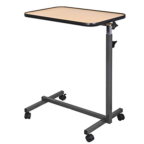 Generic JRT-AUS1-150909-1053 [8-0844] lling Table Overbed Rolling Table Over Tilting Top Bed Laptop Food aptop F Tray Hospital Desk With Tilting Top Overbed by Generic (Image #3)