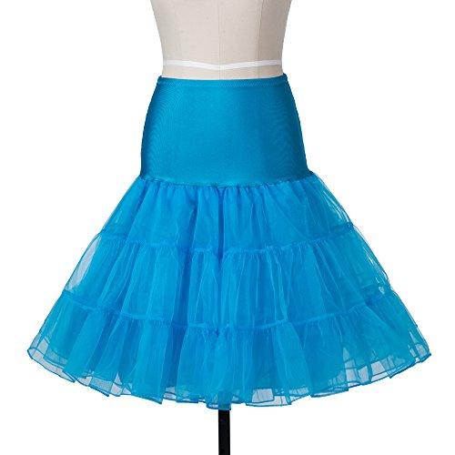 Bianco Gonna Blu Nero Azzurro Rosa Rockabilly 1950 Sottogonna Petticoat Rosso Retro 26