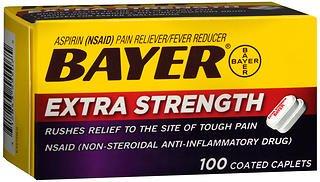 Bayer Extra Strength Aspirin Caplets - 100 Coated Caplets, Pack of 6 ()