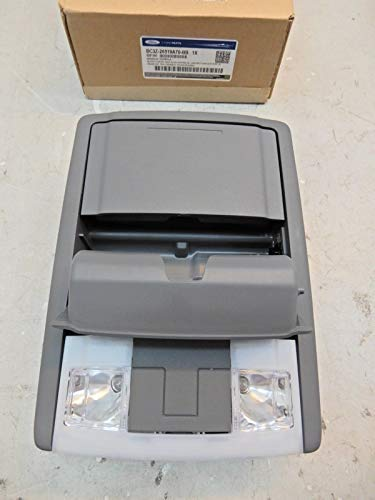 2011-2016 Ford F250 F350 Super Duty Gray Overhead Roof Console w/ Lights OEM ()