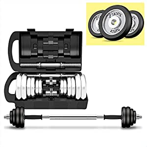 ZHH Adjustable Dumbbells Weight Set for Gym Home Bodybuilding Training,Hardcover Gift Box with Plastic Rod Double Safety…
