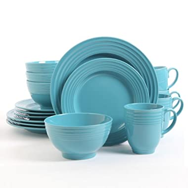 Gibson Home Stanza 16 Piece Dinnerware Set (Turquoise)