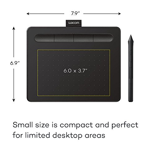 Wacom Intuos Graphics Drawing Tablet with 3 Bonus Software Included,...