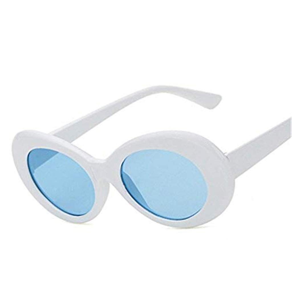Clout Goggles Cheap Hot Sale! DEATU Women Men Retro Round Lens Oval Mod Thick Sunglasses Fashion Vintage Outdoor Eyewear(C,One size)