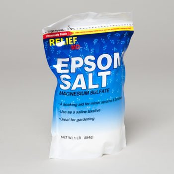 EPSOM SALT MAGNESIUM SULFATE 16 OZ RESEALABLE BAG, Case Pack of 12
