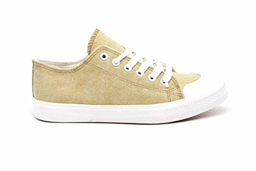 Oh Tennis Avant Baskets Beige Toile My Bout Uni Semelle Sneakers Blanche et avec SHY47 Shop qPxIrCwx