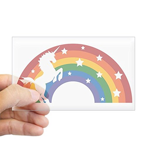 CafePress Rainbow Unicorn Sticker Rectangle
