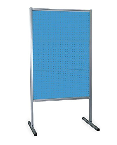 Kennedy Manufacturing 50068UB Free-Standing Pegboard, Square, 3 Reinforced Steel Toolboard Panels, Blue