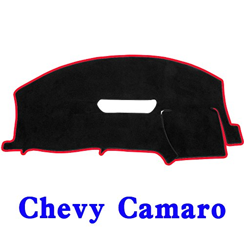 JIAKANUO Auto Car Dashboard Dash Board Cover Mat Fit Chevy Chevrolet Camaro 1997-2002(Camaro 97-02, Black-red MR-038)