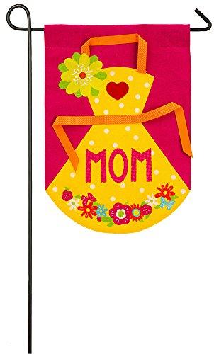 Evergreen Enterprises Apron (Evergreen Mom's Apron Burlap Garden Flag, 12.5 x 18 inches)