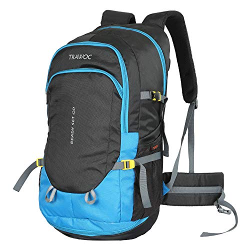 TRAWOC 50 Ltr Travel Backpack for Outdoor Sport Camping Hiking Trekking Bag Rucksack, Sky Blue