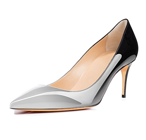 Court Womens Or Work Leather Toe Pointed Suede Ubeauty multicolor Shoes On High Grey Slip Pumps 65mm Heels Stiletto Patent 6XCxvRq