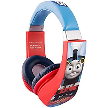 8d036a3b4cc Thomas and Friends Cartoon Character Train 30385 Kid Safe Over the Ear  Headphone w/Volume Limiter by Sakar, clear bass, warm highs and lows, 3.5MM  Stereo ...