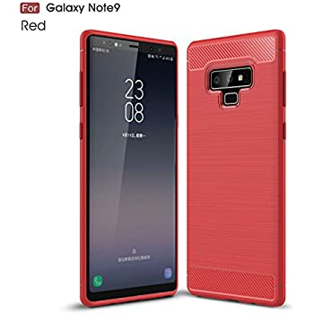 Galaxy Note 9 Case, Cruzerlite Carbon Fiber Shock Absorption Slim Case for Samsung Galaxy Note 9 (Red)