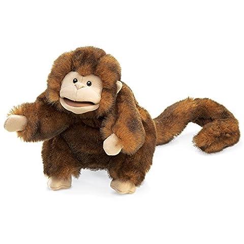 Folkmanis Monkey Hand Puppet - Monkey Finger Puppet