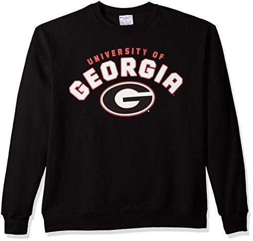 Champion NCAA Georgia Bulldogs Men's Power Blend Fleece Crew Neck Sweatshirt, Large, Black