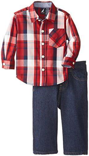 Nautica bebé-Boys Infantil 2 piezas Camisa de leñador y Denim ...
