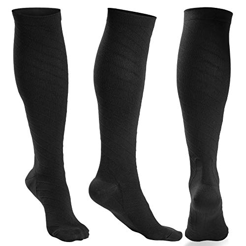 OXYVAN 3 Pairs Compression Socks Women and Men - Athletic Fit For Running,Travel,Recovery,Pregnancy & Medical