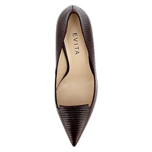 Donna Scarpe Jessica Col Evita Tacco Bordeaux Shoes pXwHqZ