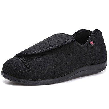 Sandalias de verano los zapatos de los hombres la diabetes los pies hinchados exteriores / oficina / Carrera / Casual Alpargatas Polar Negro Negro