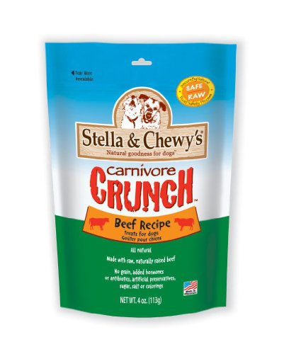 Stella and Chewy's Carnivore Crunch Beef, Freeze-Dried Dog Treats (Pack of 3), My Pet Supplies