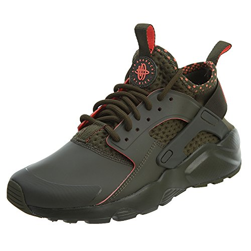 7dad2194c08e Galleon - NIKE Men s Air Huarache Run Ultra SE Cargo Khaki Total Crimson  Running Shoe 9 Men US