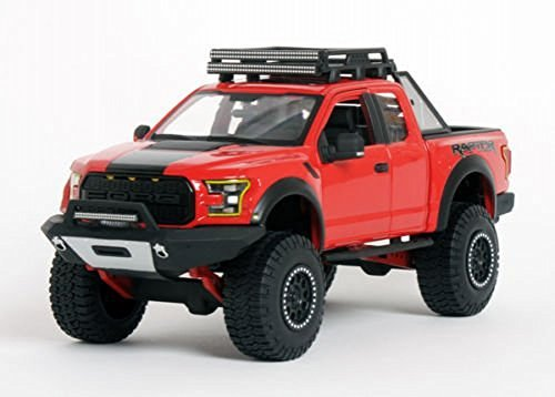 Ford 2017 F-150 Raptor Pickup Truck Red Off Road Kings 1/24 by Maisto 32521