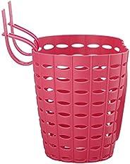 RSTYS Children Bicycle Basket, Plastic Front Handlebar Basket Detachable Bike Storage Box Basket Black Plastic
