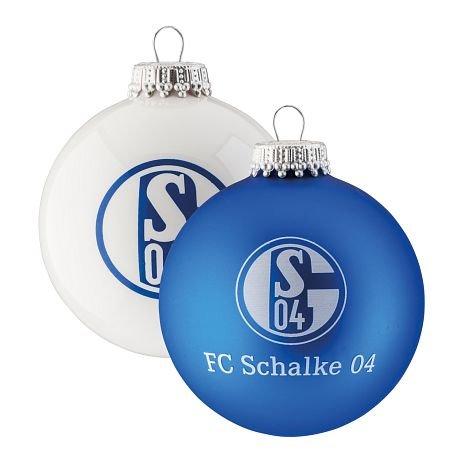 Schalke Tannenbaum.Fc Schalke 04 Weihnachtskugeln 4er Pack