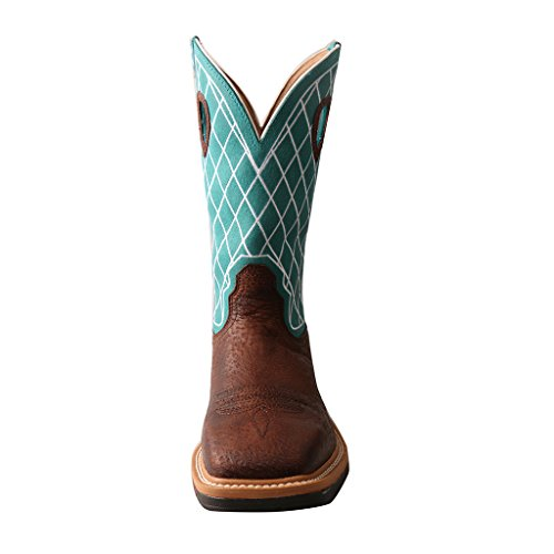 Twisted X Men'S Lite Cowboy Workboot, Color: Brown Distressed/Turquoise, Size: 1 by Twisted X (Image #2)