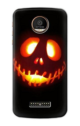 (R2335 Halloween Jack Pumpkin Carving Case Cover For Motorola Moto Z Force, Z)