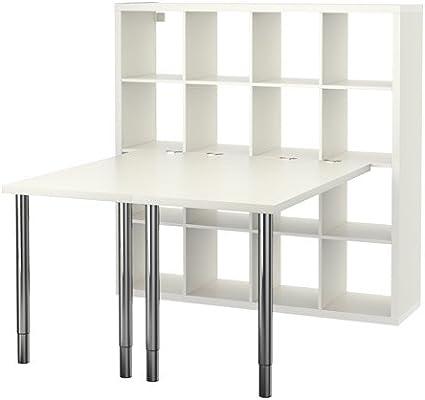 IKEA KALLAX - combinación de escritorio, blanco - 147 x 147 ...