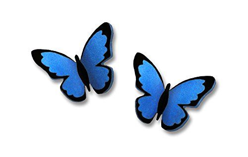 Sienna Sky Small Blue Morpho Butterfly Post Earrings 1732