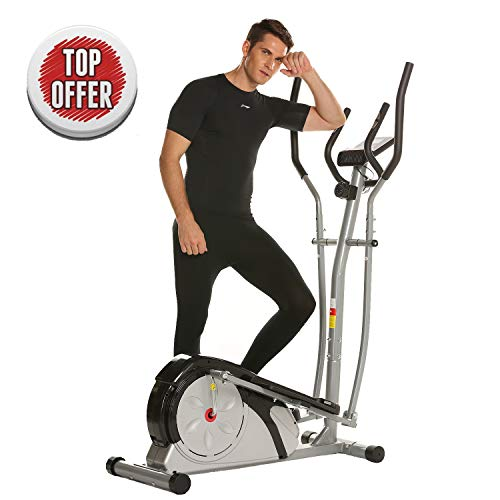 ncient Elliptical Machine Eliptical Exercise Trainer Machine for Home Use Magnetic Smooth Quiet Driven, Top Levels Elliptical Trainer (Silver)