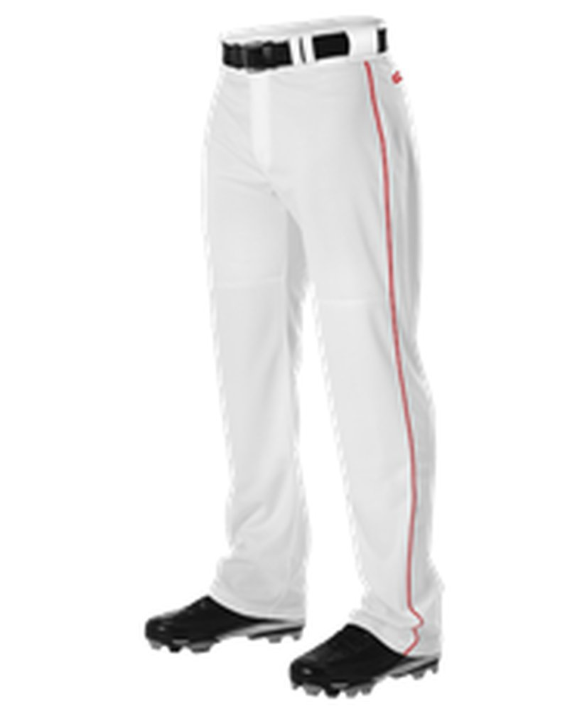 Alleson Athletic PANTS メンズ B0755Y9YJS 3X White, Scarlet White, Scarlet 3X