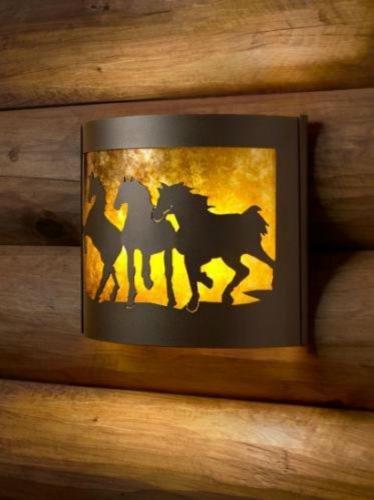 PD Metals Decorative Indoor Wildlife Sconces (Horse/Left)
