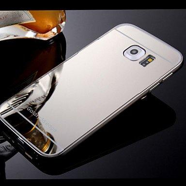 Casos hermosos, cubiertas, Marco y caja del teléfono backplane espejo compacto plateado para la Samsung Galaxy S4 / S5 / S6 / s6edge / edge + (colores surtidos) ( Color : Oro , Modelos Compatibles : G Plateado