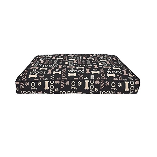 Dogit Long Cushion, Black, 51 x 73 cm by Dogit