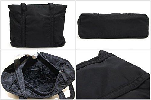 96508a6626bc Amazon | PRADA(プラダ) トートバッグ ブラック ナイロン 中古 ロゴ 刺繍 フォーマル 黒 PRADA [並行輸入品] | PRADA( プラダ) | トートバッグ