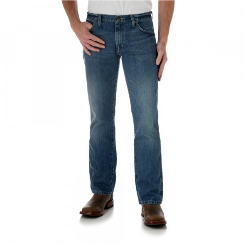 Bootcut Worn In Jeans (Wrangler Men's Retro Slim Fit Boot Cut Jean, Worn In,  32x36)