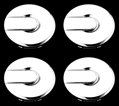 BB Auto Set of 4 New 17 inch 7 or 8 Spoke Wheel Hub Center Caps Chrome Hubcaps Covers Replacement for 2003-2008 Hummer H2 H-2