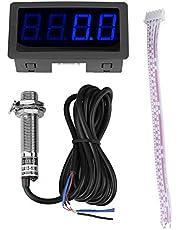 NPN Rojo/Azul Tacómetro de 4 Dígitos de Panel LED de Medición con Sensor de Proximidad de Efecto Hall