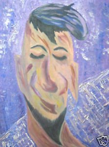 A Man & His Beret; Original Oil on Canvas Board ()